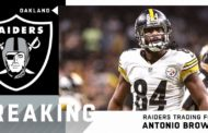 Antonio Brown è un giocatore dei Raiders