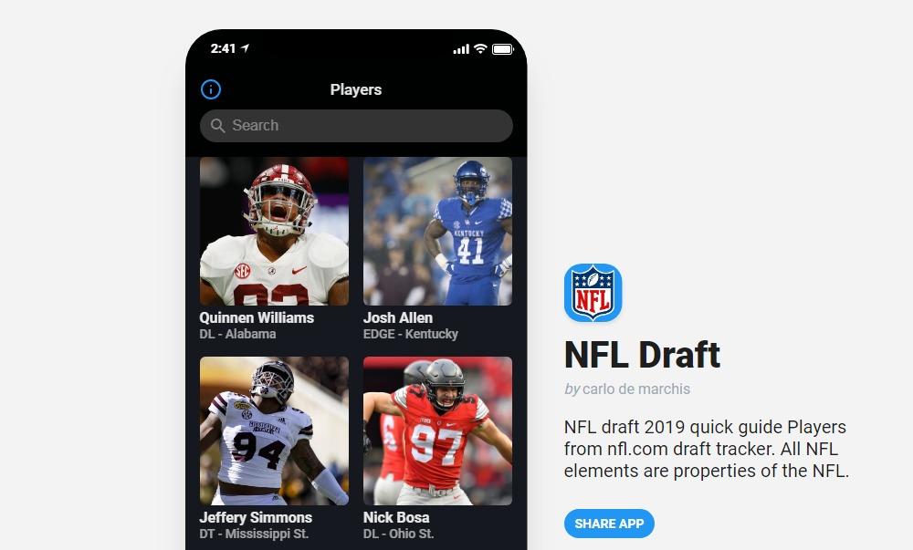 NFL Draft, la webapp per essere sempre aggiornati