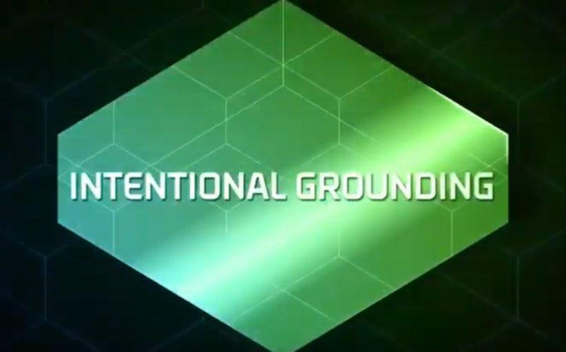 L'intentional grounding spiegato bene