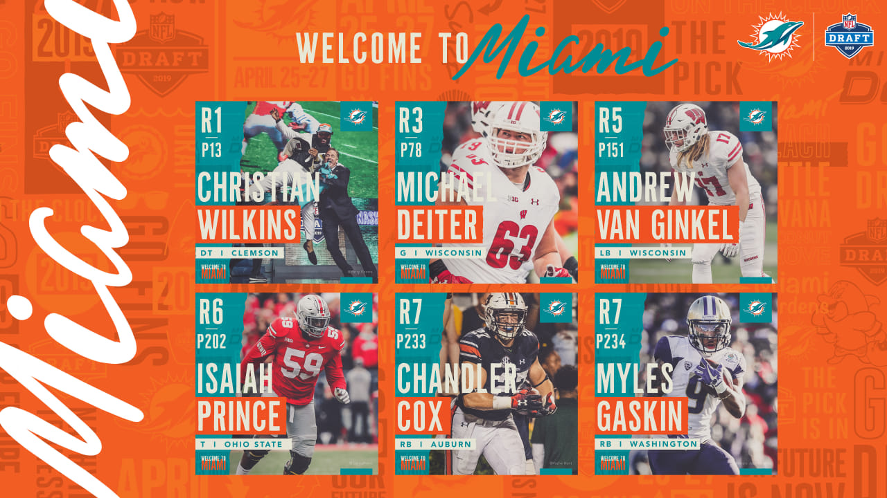 Il Draft 2019 dei Miami Dolphins