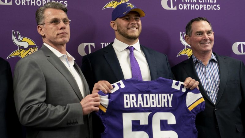 Bradbury Draft minnesota Vikings
