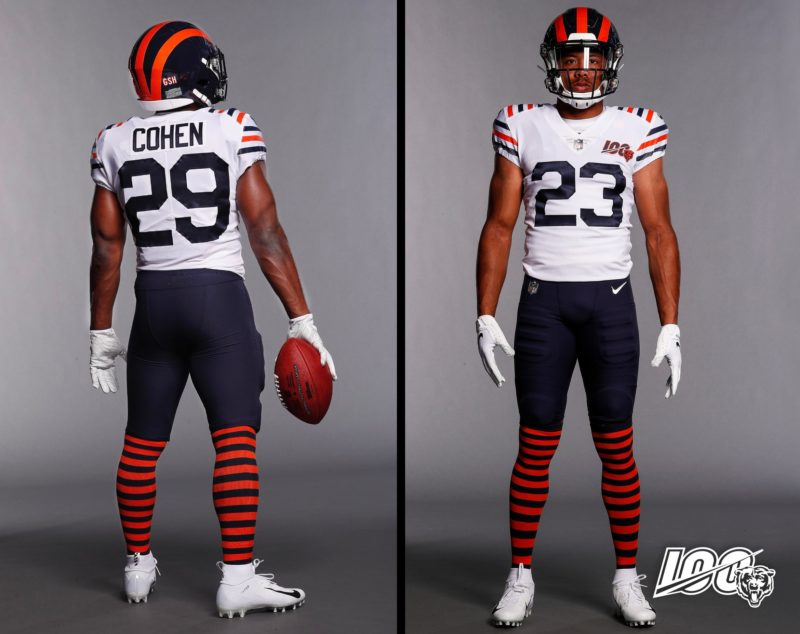 Chicago Bears white throwback