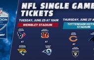 Biglietti NFL a Londra in vendita a fine giugno