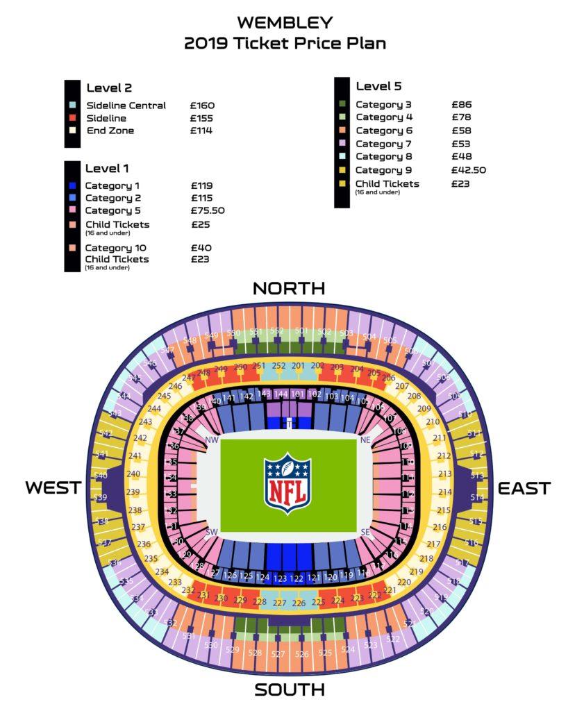 wembley stadio map