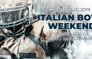 Italian Bowl weekend, le finali del football italiano