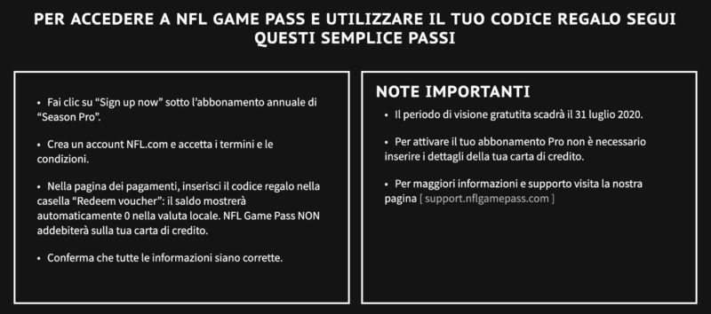 game pass dazn istruzioni