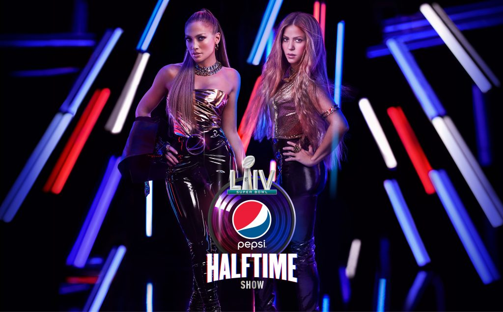 Jennifer Lopez e Shakira all'halftime show del Super Bowl LIV