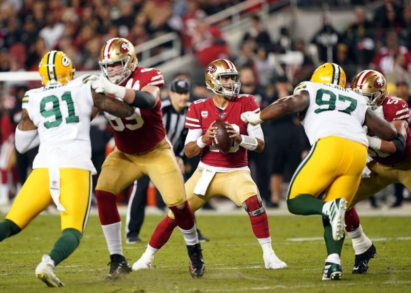 garoppolo 49ers packers