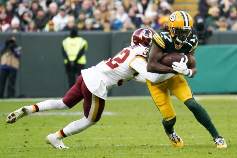 Aaron Jones Packers Redskins