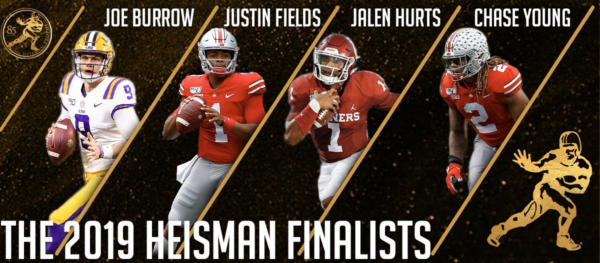 I quattro finalisti per l'Heisman Trophy