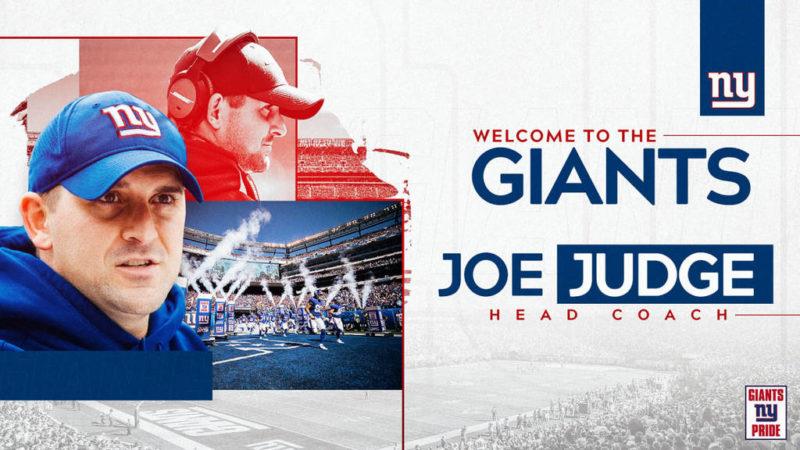 Joe Judge Giants