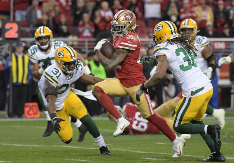 Mostert 49ers Packers