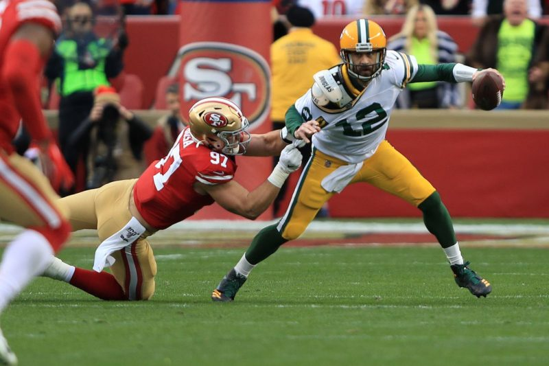 Rodgers Bosa Packers 49ers