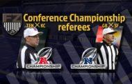 Le crew arbitrali delle finali di Conference