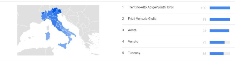 google trends regioni