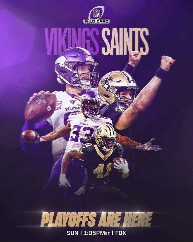 vikings saints wild card