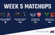 XFL, il preview di week 5