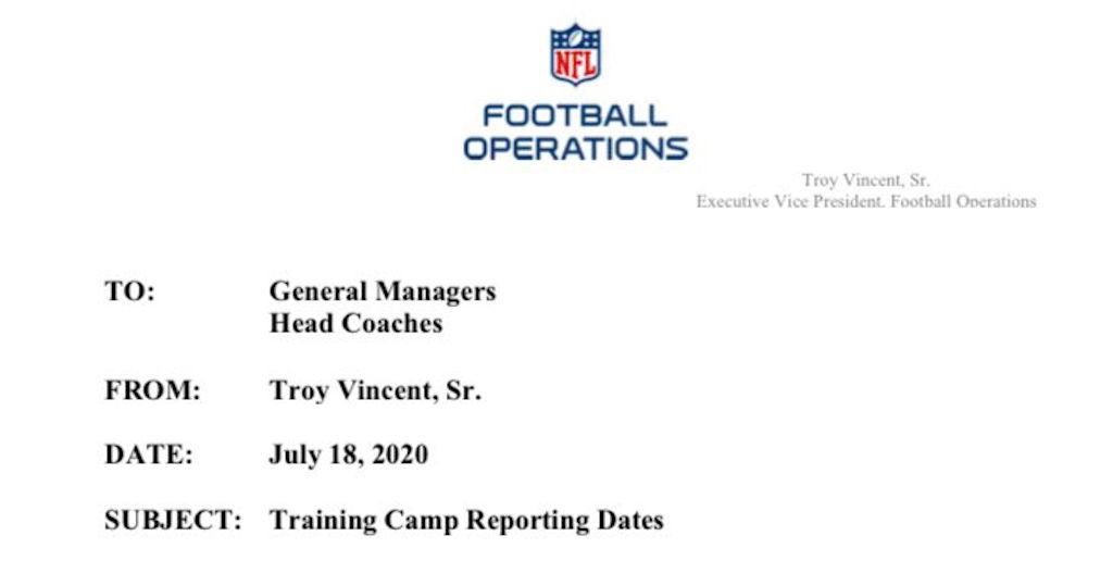 Iniziano i training camp NFL