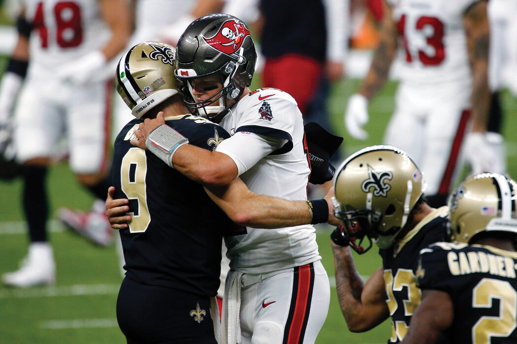 Drew Brees piega Tom Brady (Tampa Bay Buccaneers vs New Orleans Saints 23-34)