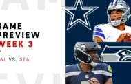 [NFL] Week 3: Preview Dallas Cowboys vs Seattle Seahawks