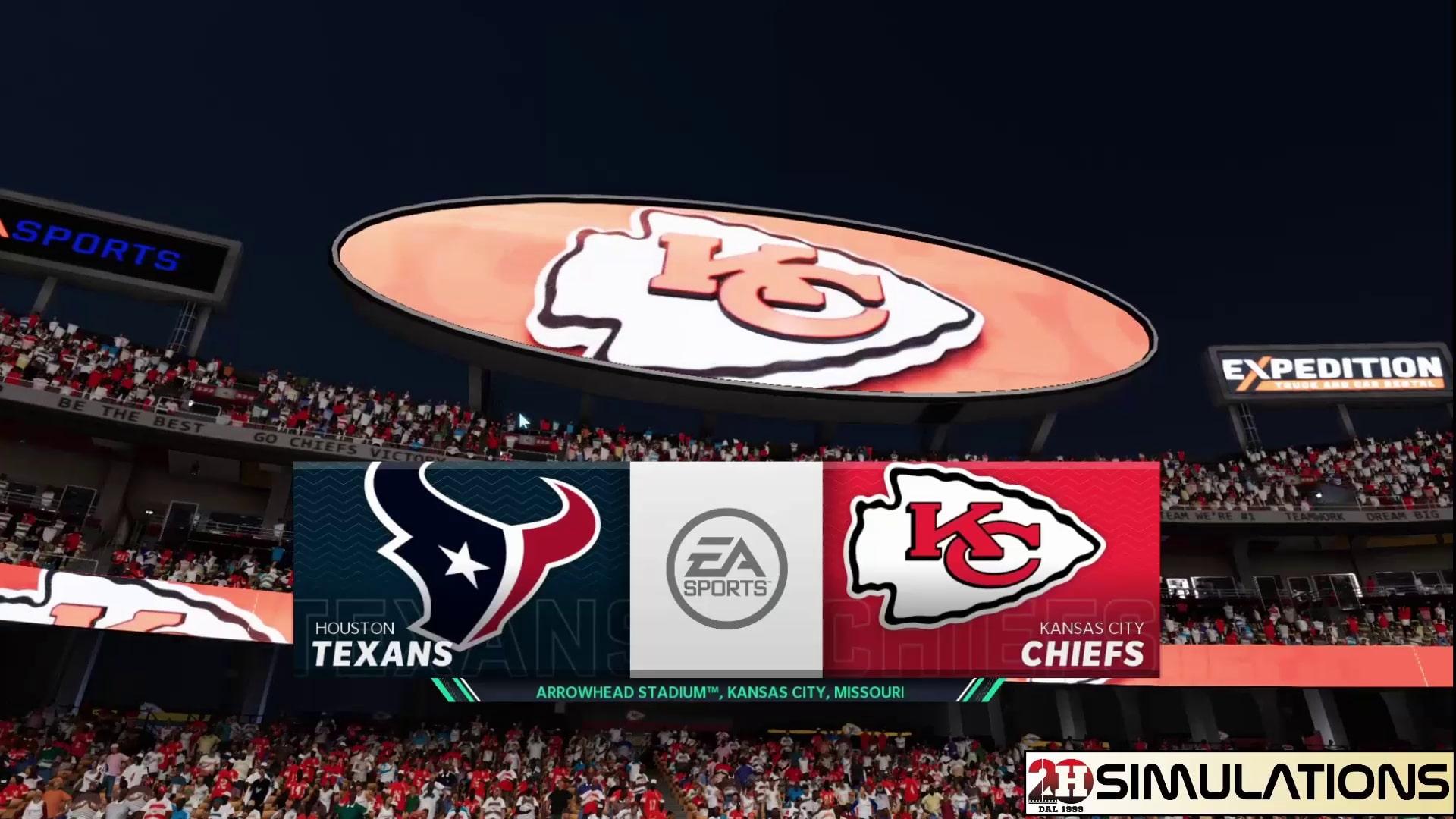 Huddle Simulations - Week 1: Texans vs Chiefs