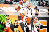 Mayfield supera Burrow ma perde OBJ (Cleveland Browns vs Cincinnati Bengals 37-34)