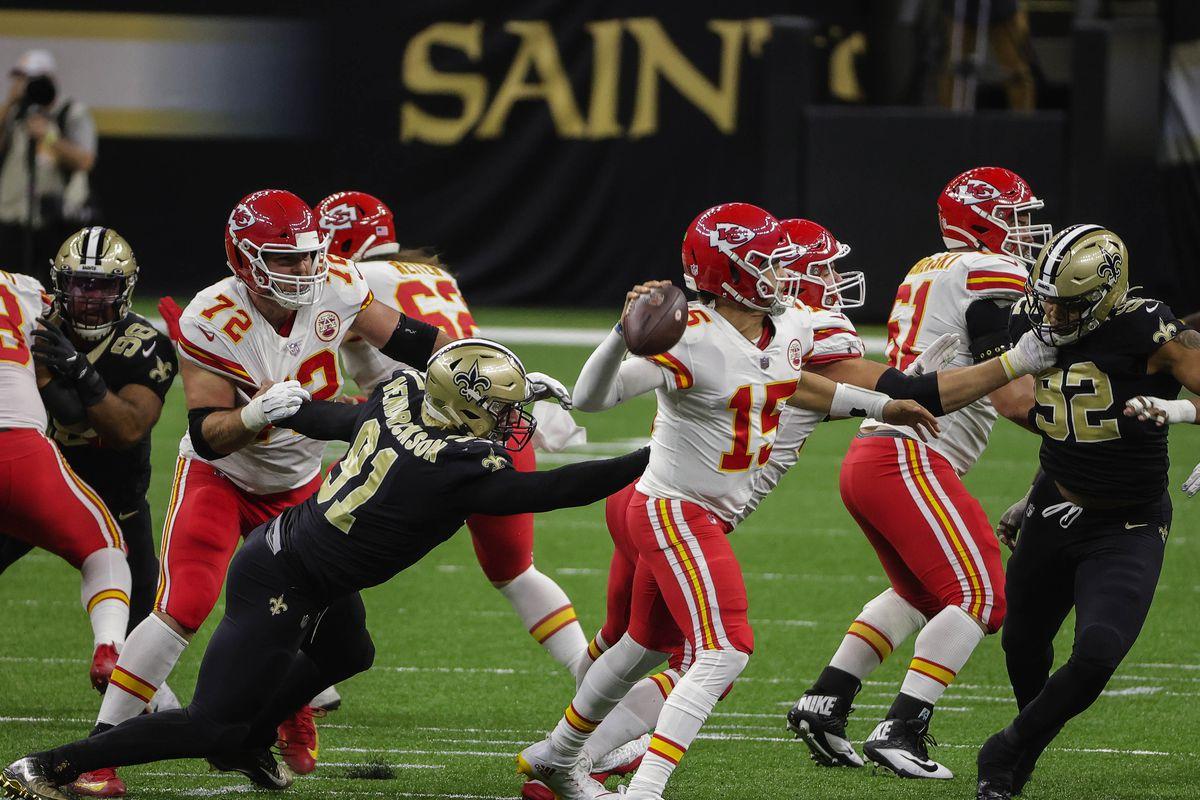 Brees malconcio, Chiefs non perdonano (Kansas City Chiefs vs New Orleans Saints 32-29)
