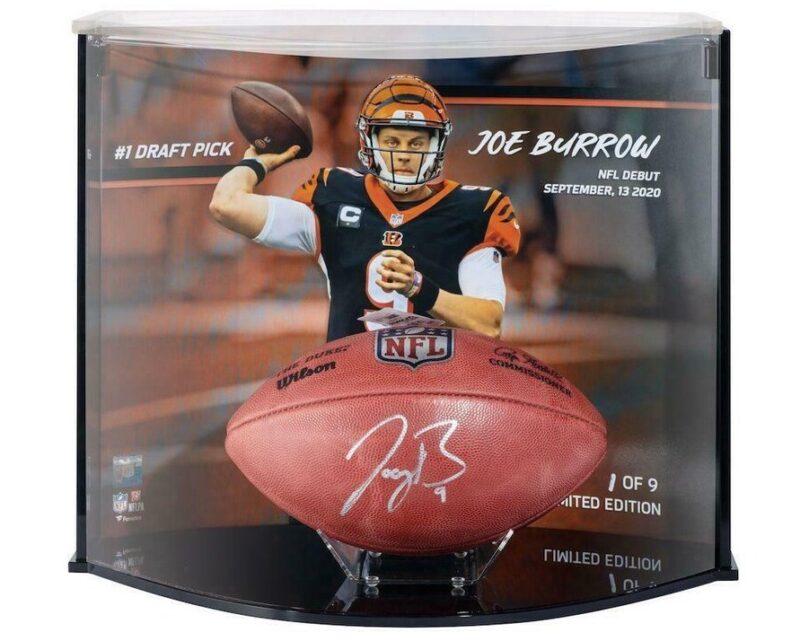 joe burrow autographed football