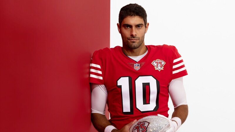 Divise_49ers_75_anniversary_red_Garoppolo