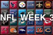Il Preview di week 3 NFL